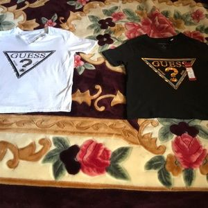 Two new kids guess shirts black/white